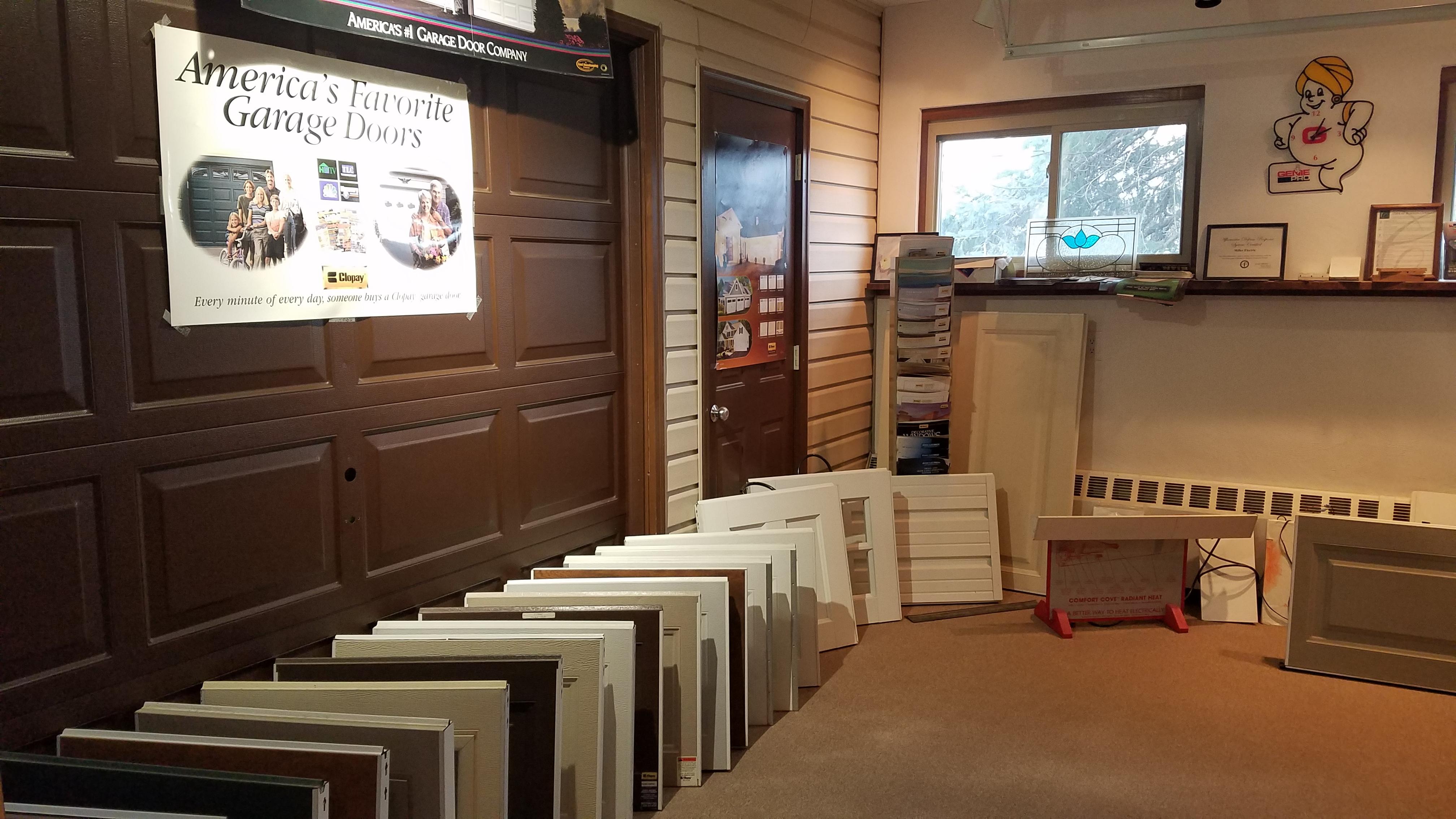 Miller Electric garage doors showroom